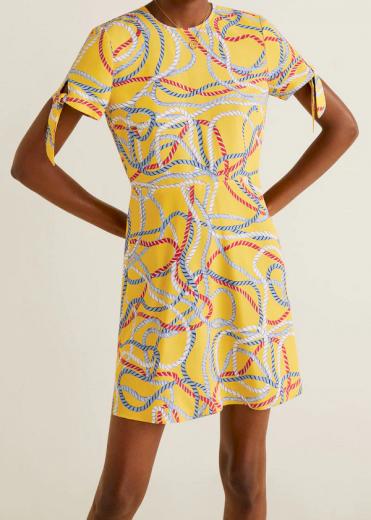 Dámské žluté šaty Mango