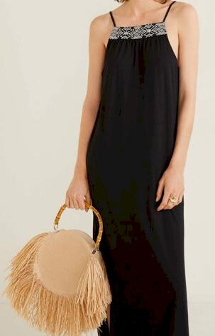 Dámské dlouhé černé šaty