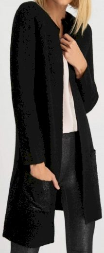 Dámský černý cardigan Orsay
