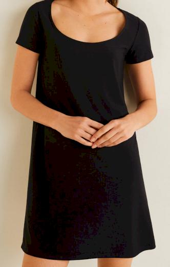 Dámské krátké černé šaty