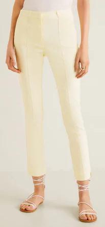 Dámské žluté kalhoty