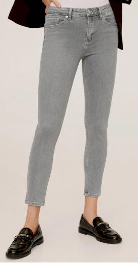 Dámské šedé jeans kalhoty