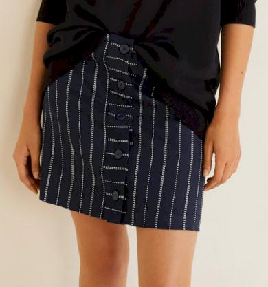 Dámská sukně s proužkem