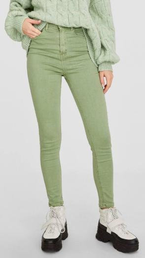 Dámské zelené jeans Stradivarius