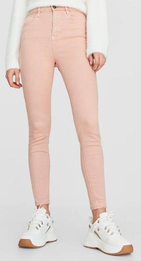 Dámské růžové jeans Stradivarius
