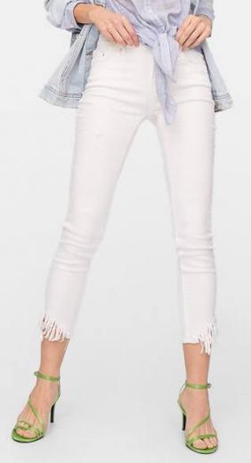 Dámské bílé jeans Stradivarius