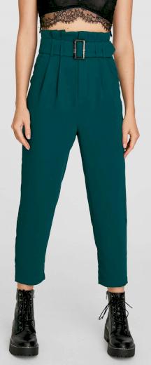 Stradivarius zelené kalhoty