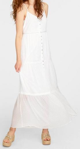 Stradivarius bílé šaty na ramínka