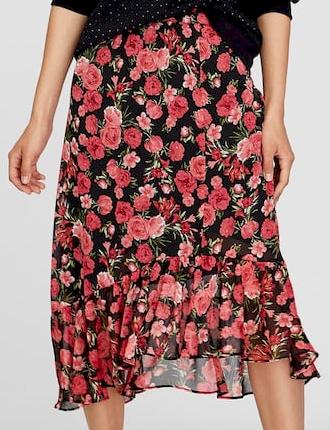 Květovaná sukně Stradivarius