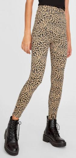Kalhoty s leopardím vzorem Stradivarius