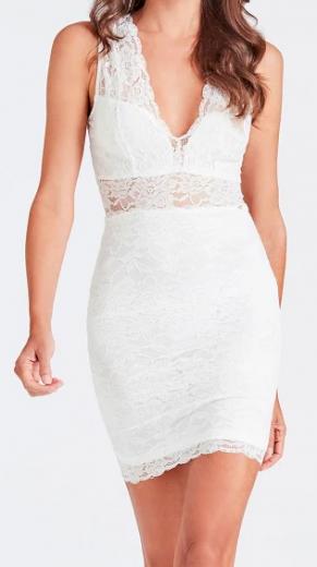 Dámské bílé šaty Guess
