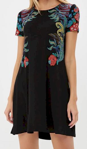 Dámské černé krátké šaty Desigual