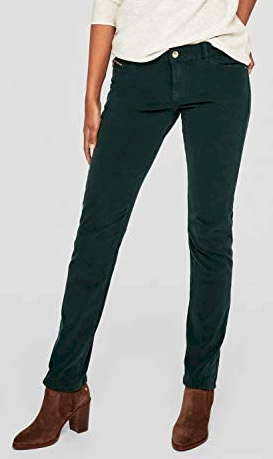 Dámské zelené kalhoty S.Oliver