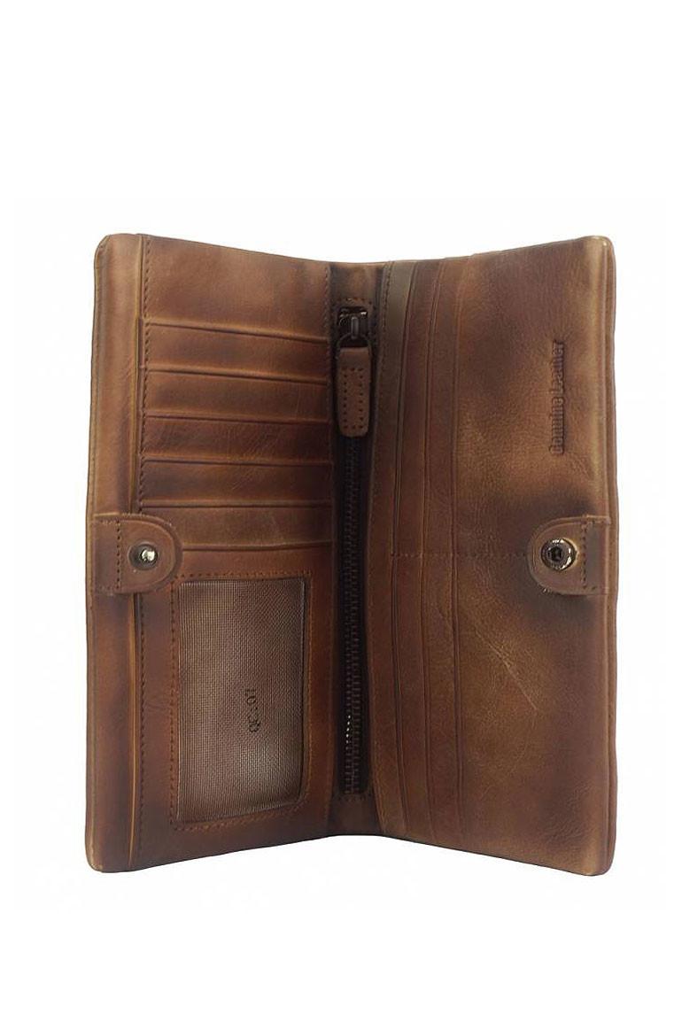 Rustikální kožená peněženka