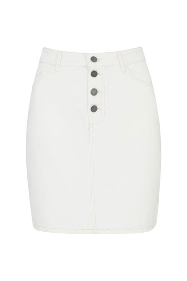 Bílá džínová eko sukně