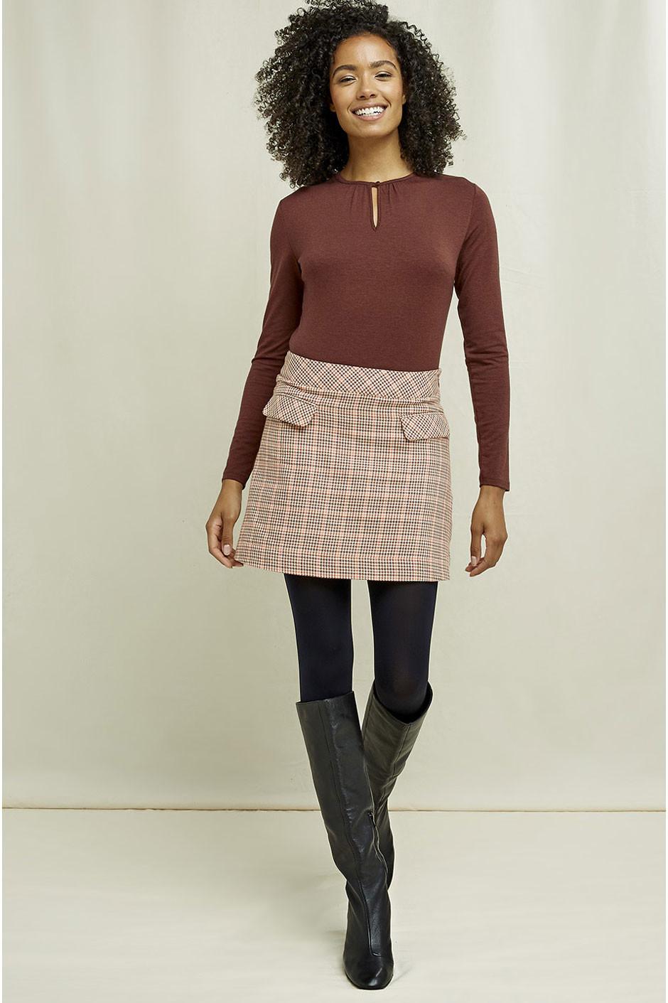 EKO krátká sukně s kohoutí stopou
