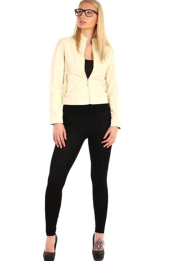 Dámská koženková bunda na zip