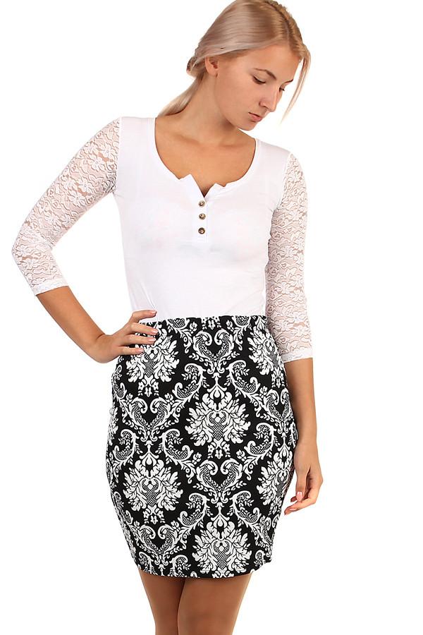 Dámská pouzdrová vzorovaná sukně - i pro plnoštíhlé