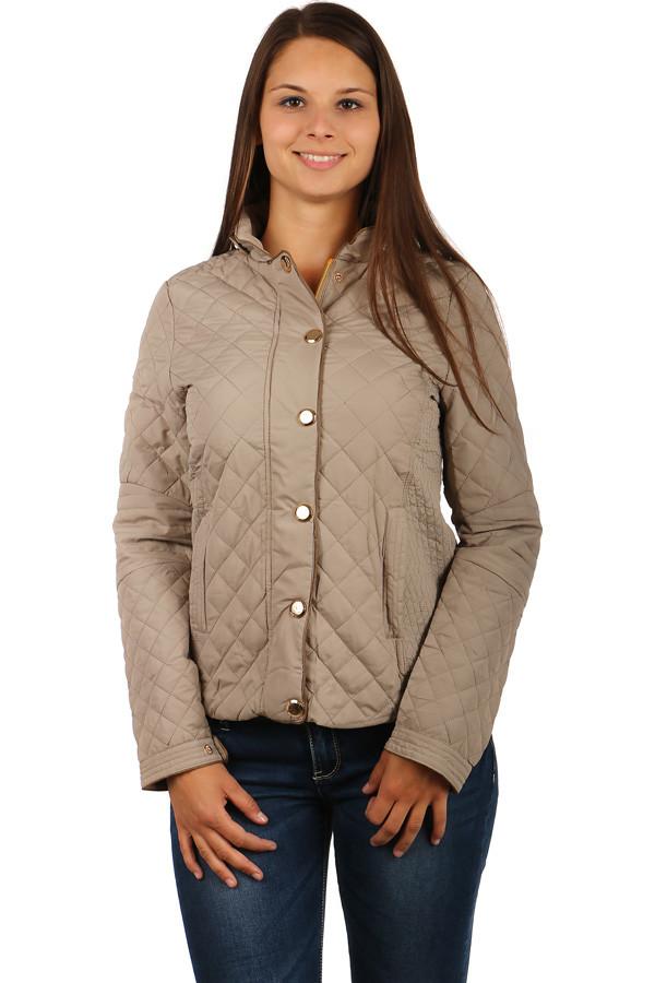 Prošívaná dámská bunda na zip