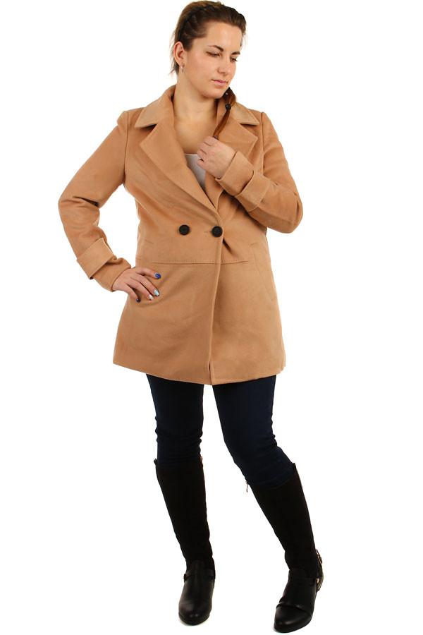 Dámský oversized kabátek na knoflík