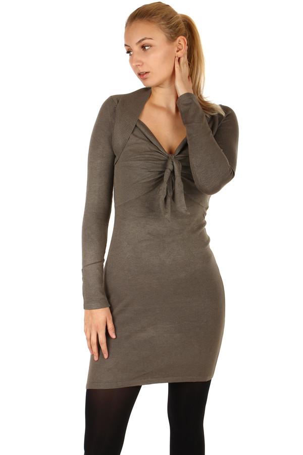 Dlouhý svetr/šaty s ozdobným uzlem