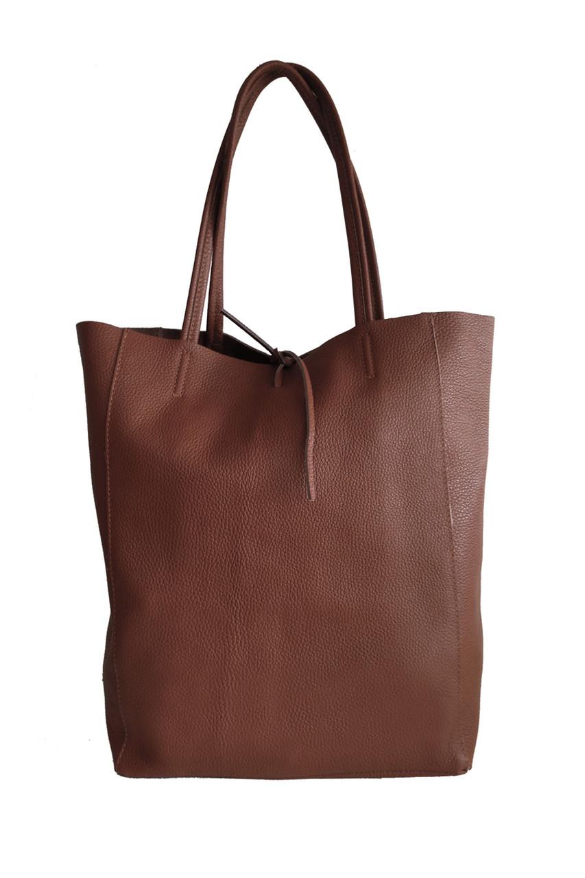 Tote kožená kabelka