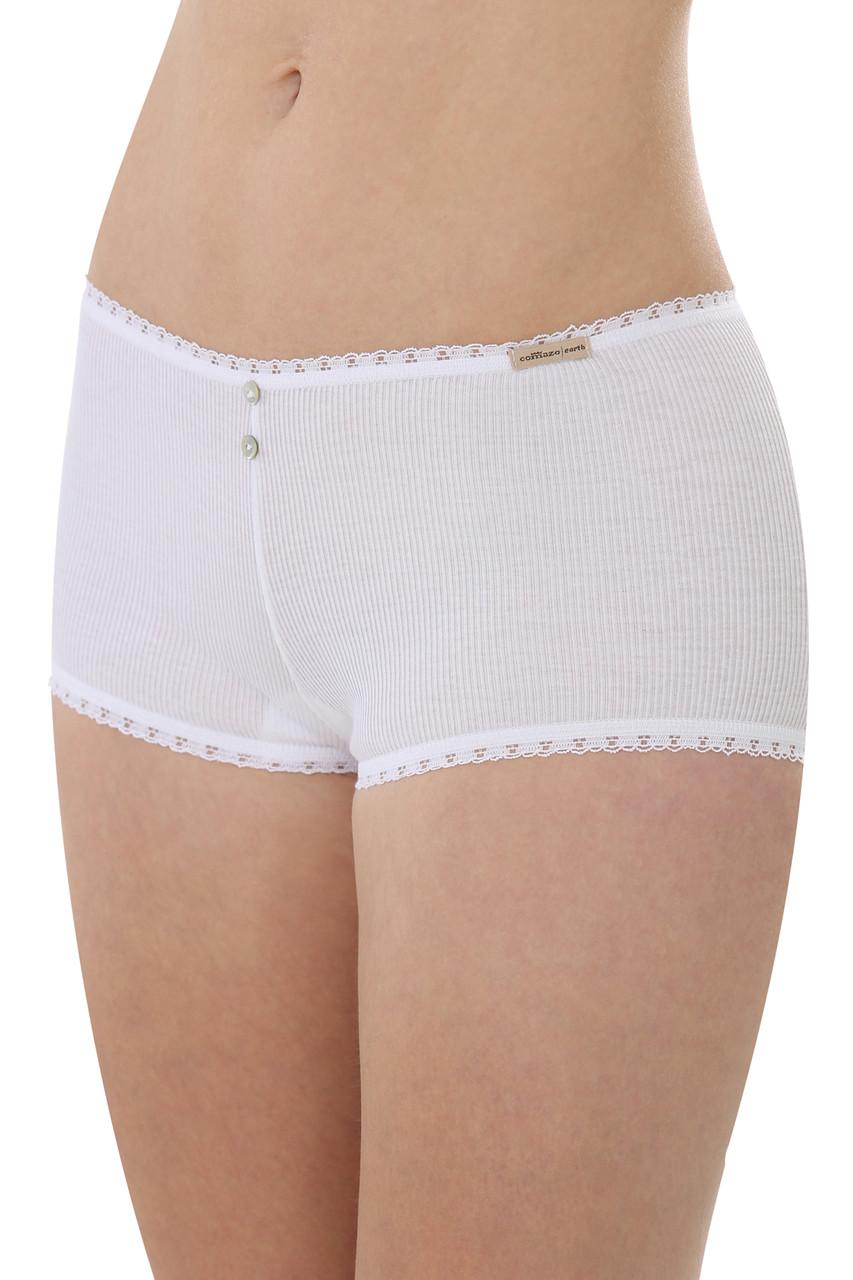 Dámské jednobarevné kalhotky s nohavičkou
