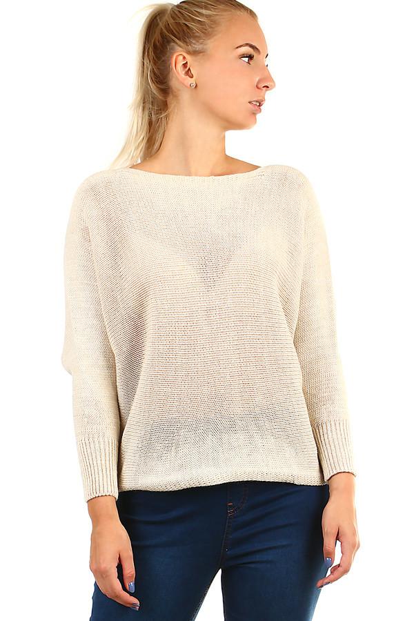 Dámský oversized svetr s mašlí na zádech