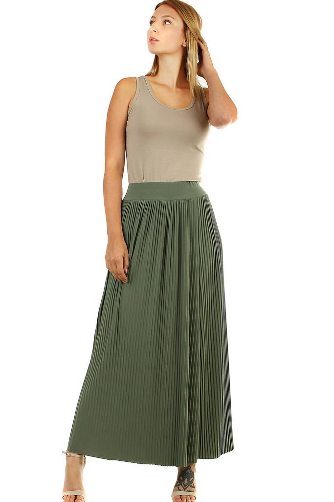 Dlouhá plisovaná dámská sukně