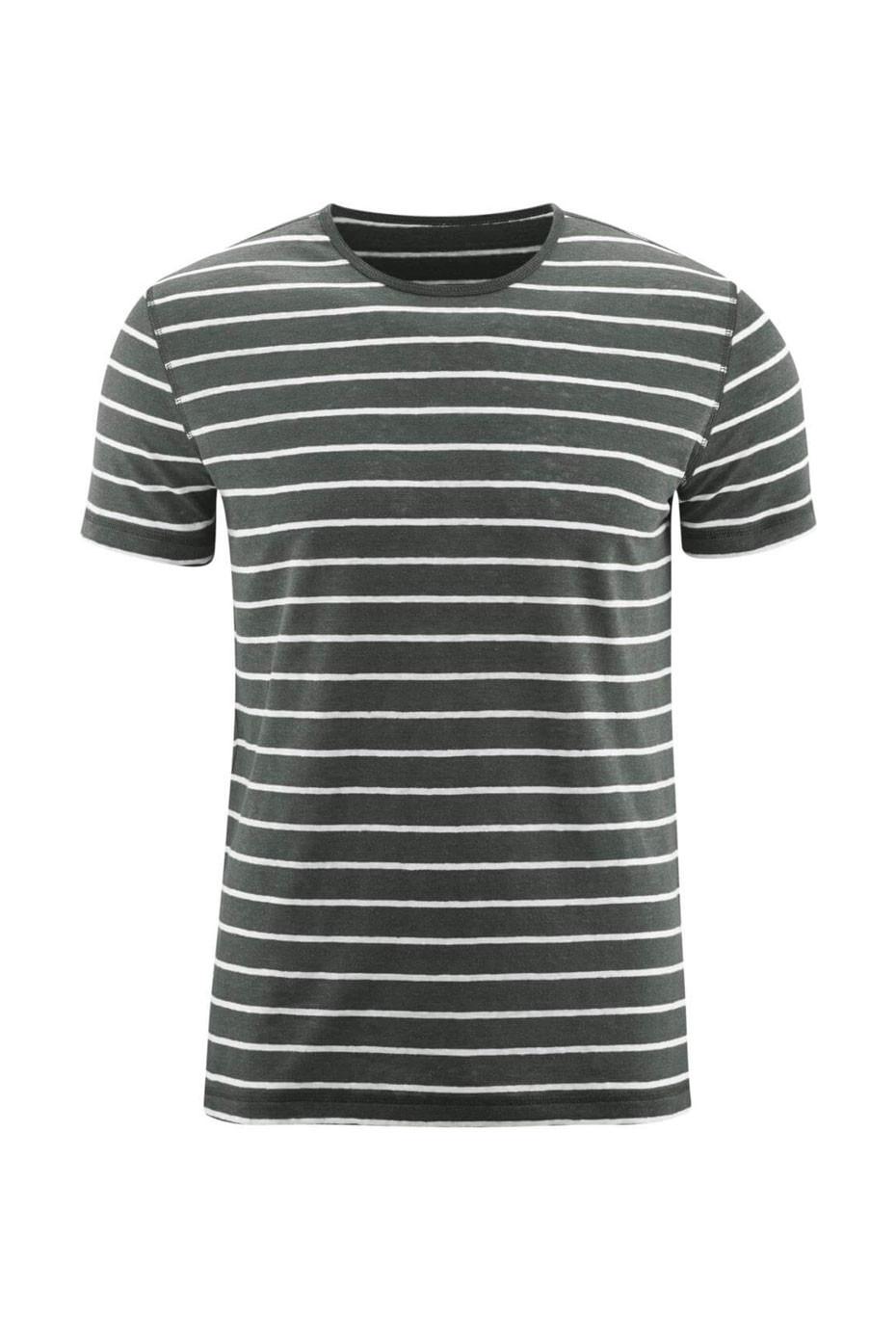 Lněné pánské pruhované tričko