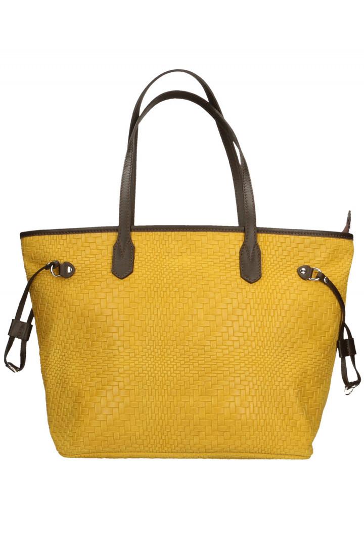 Kožený shopper bag