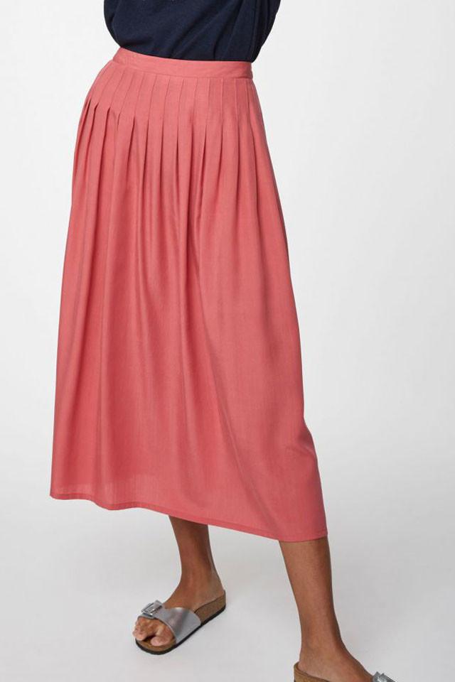 Dámská eko sukně se sklady