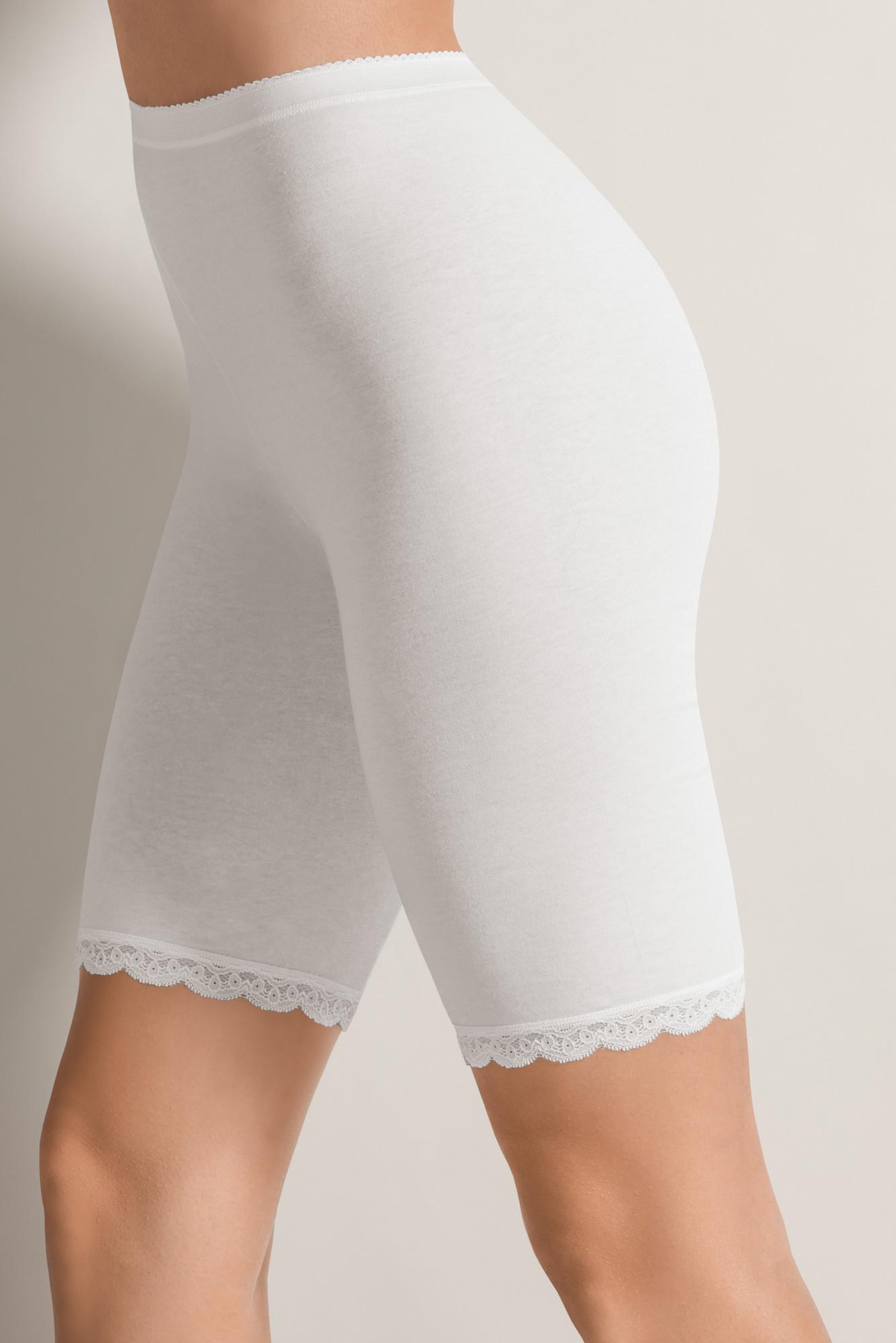 Bavlněné krajkové boxerky s dlouhou nohavičkou 2 PACK