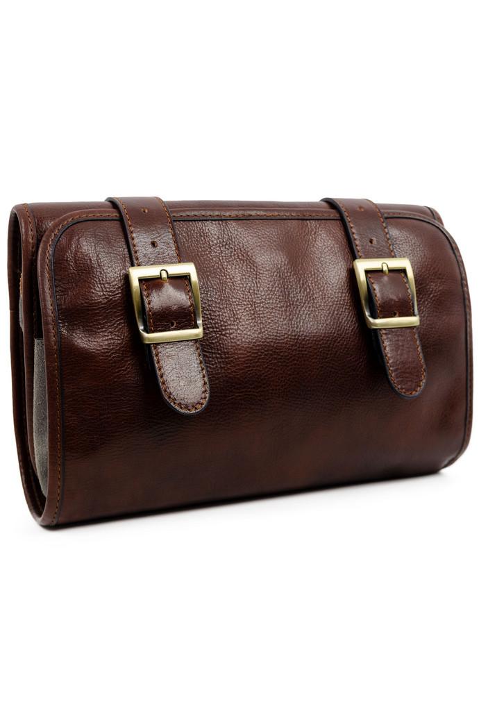 Rodinná kožená kosmetická taška wrap-up Premium