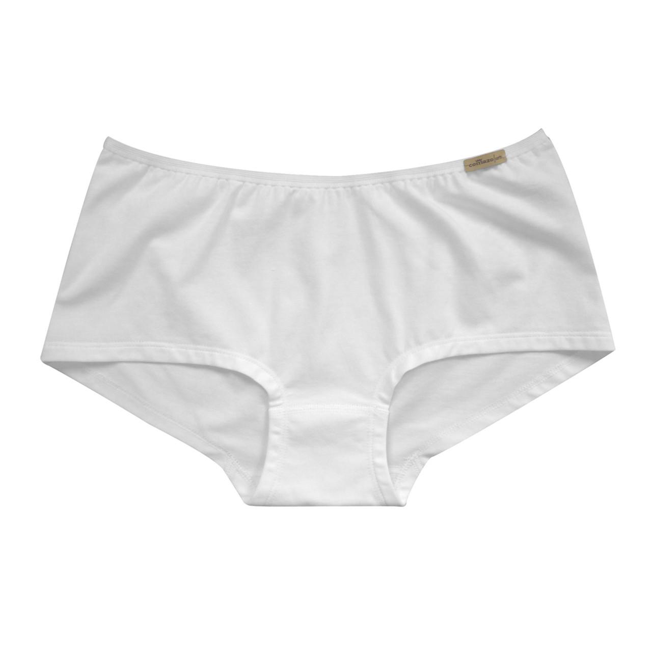 Dámské bio bavlněné kalhotky s nohavičkou