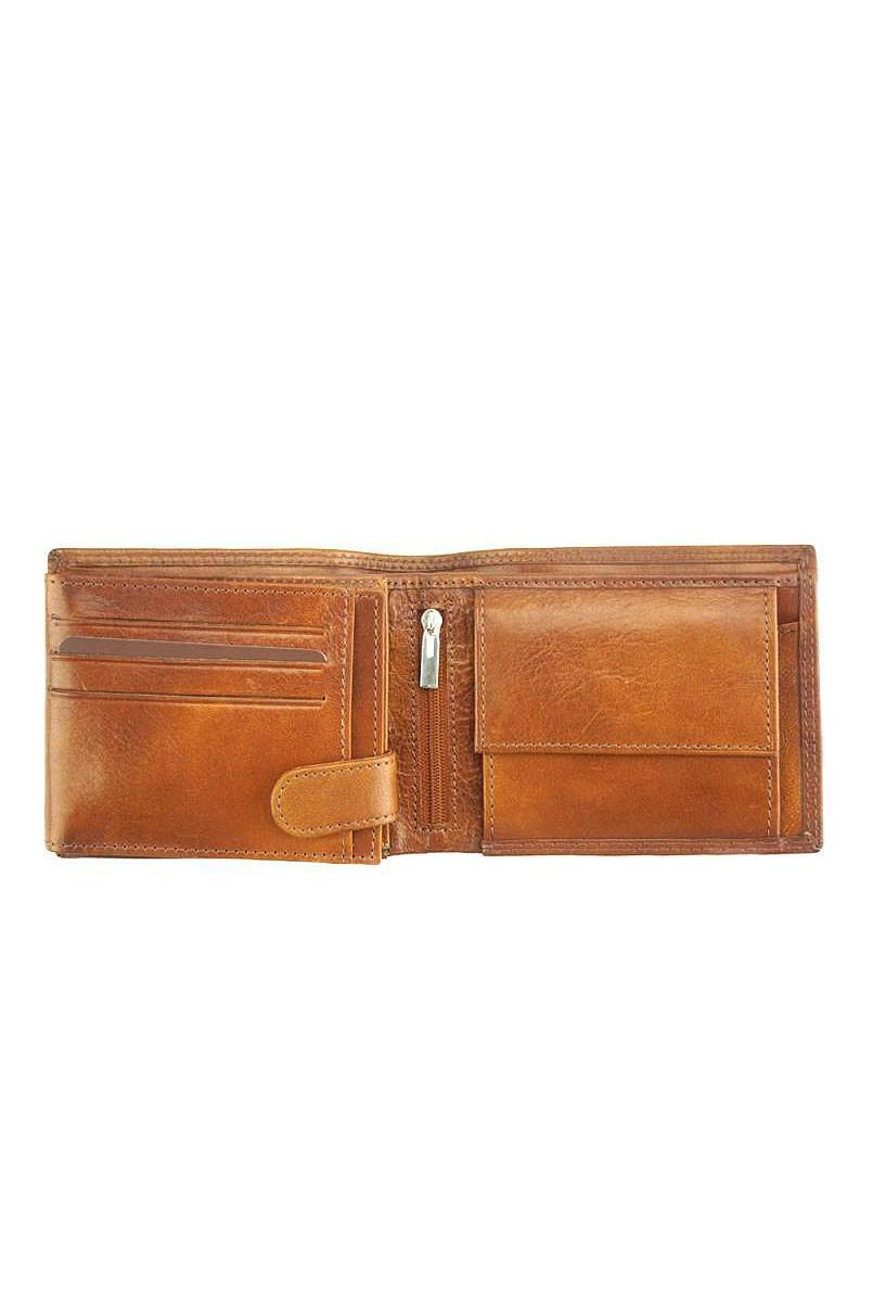 Přehledná peněženka z pravé kůže