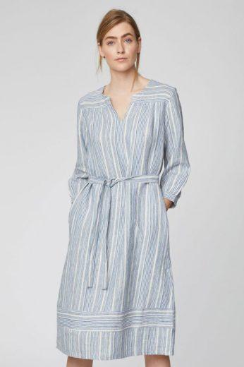Ležérní šaty s 3/4 rukávem z konopí