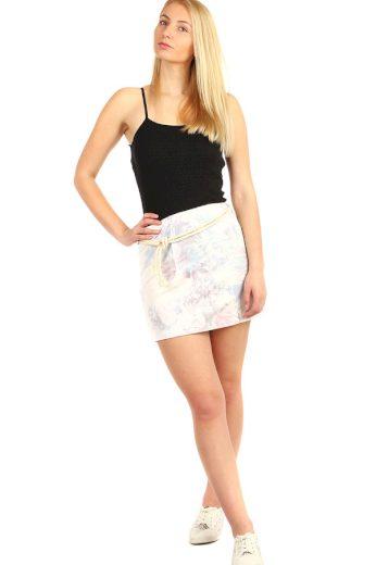 Dámská sportovní pouzdrová sukně s květinovým vzorem