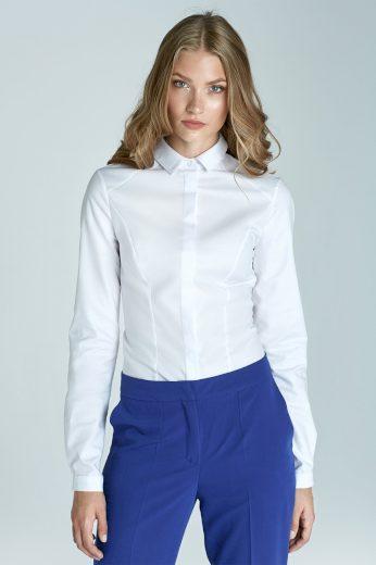 Jednobarevná dámská košile s límečkem