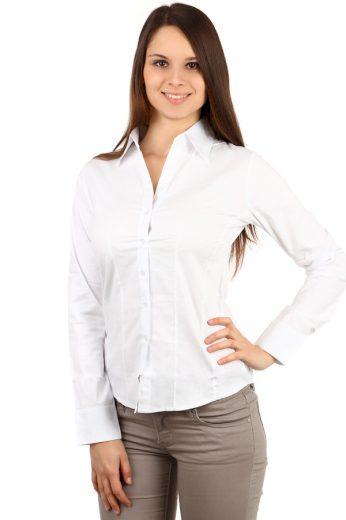 Dámská bílá košile - i pro plnoštíhlé