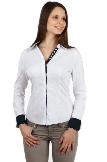 Dámská společenská košile - dlouhý rukáv
