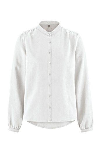 Konopná dámská košile s dlouhým rukávem