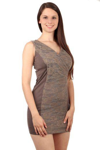 Mini šaty s krajkou a širokými ramínky
