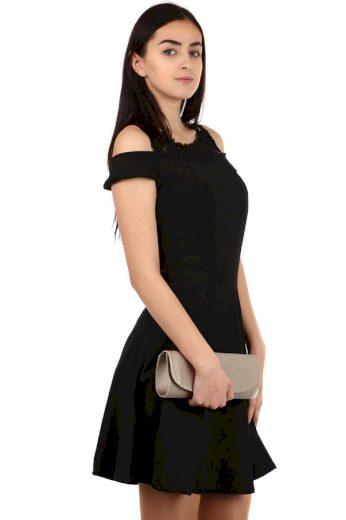 Áčkové šaty s krajkovými rameny