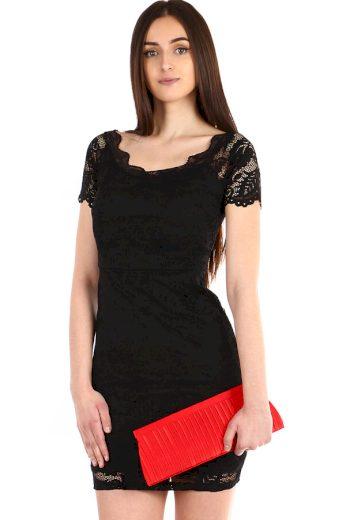 Dámské krajkované šaty s krátkým rukávem