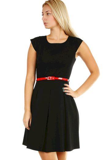 Retro dámské společenské šaty s páskem