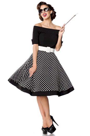 Vintage puntíkaté dámské šaty