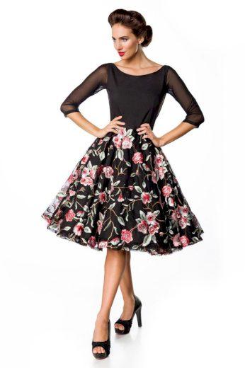 Vintage společenké šaty s květinami
