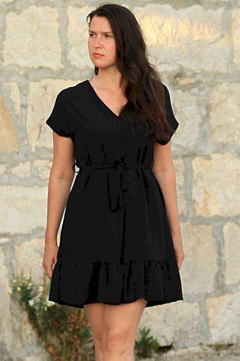 Koktejlové dámské šaty s kanýrem