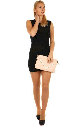 Úpletové dámské mini šaty s kamínky